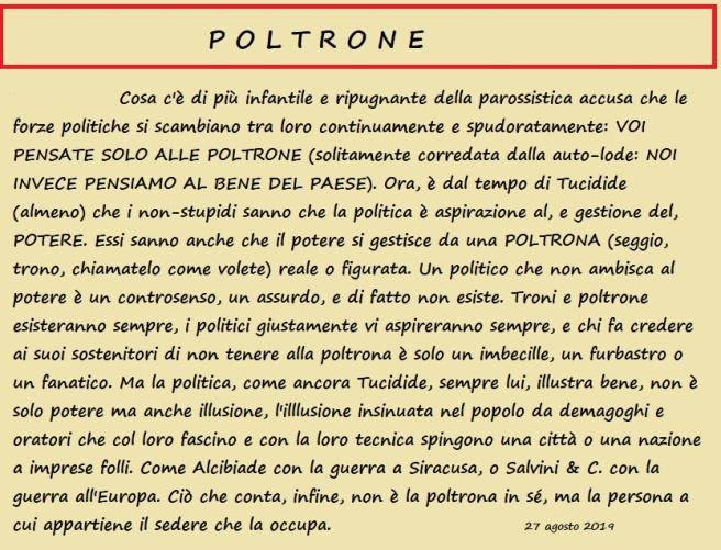 poltrone